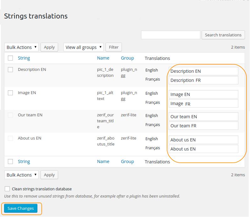 在字符串翻譯表中創建翻譯